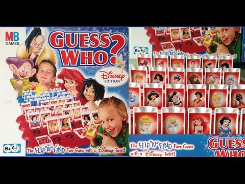 Guess Who Disney Edition Childrens Game Basic Rules Peter Pan