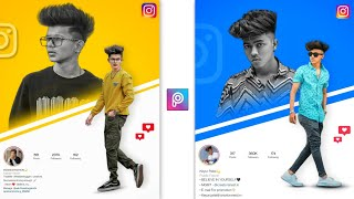 instagram Creative Dual Photo Editing ||  Picsart Editing New Style - Xyaa Edits 🔥