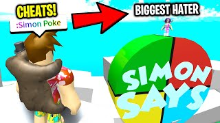 I Used SIMON SAYS CHEATS and a POKE HATER Got REALLY MAD! (Roblox)