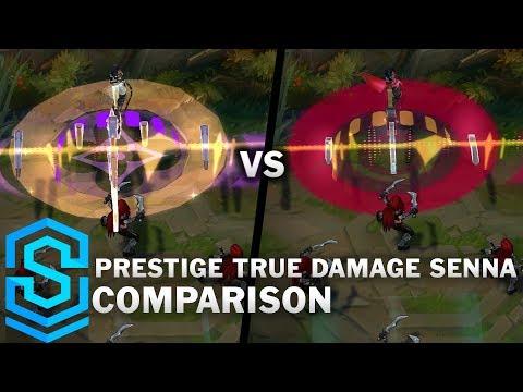 Prestige True Damage Senna VS All Previous Skins | Skin Comparison