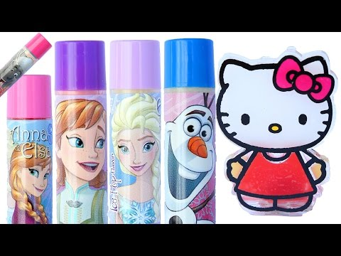Thumbnail: Frozen Elsa Lip Balm DIY hello kitty Lip Gloss How To Make Disney Princess Lip Stick