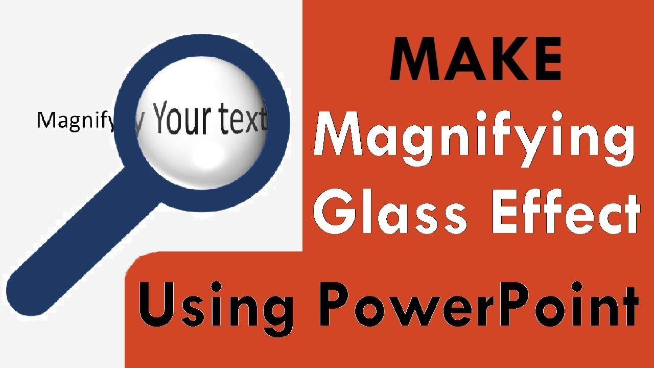How To Make Magnifying Glass Effect Using Powerpoint Youtube
