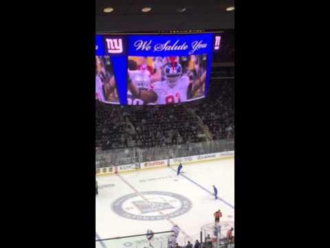 Flyers vs Rangers 2/14/16 Justin Tuck return