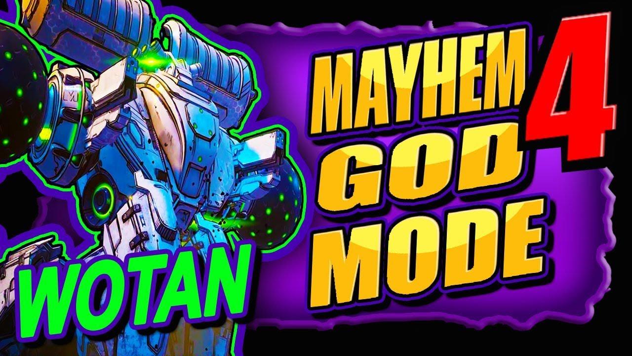 "Easy!! MAYHEM 4 ""WOTAN"" Farming (Godmode & ONE Billion DAMAGE) BORDERLANDS 3 thumbnail"
