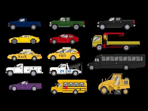 Street Vehicles 4 - Cars and Trucks - The Kids' Picture Show (Fun & Educational Learning Video)