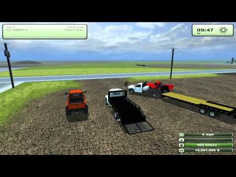 Farming Simulator Mods - Dodge 2500 Lifted, Landscape truck, 82 Silverado