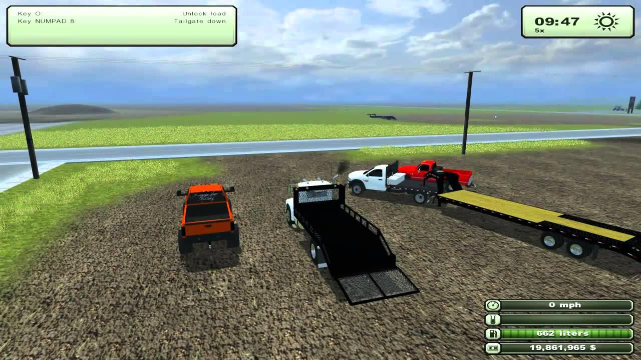 Farming simulator 2013 mods dodge 2500 lifted landscape truck 82 silverado youtube