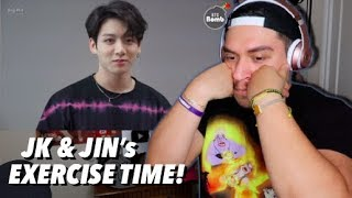 [BANGTAN BOMB] JK & JIN's exercise time - BTS (방탄소년단) REACTION