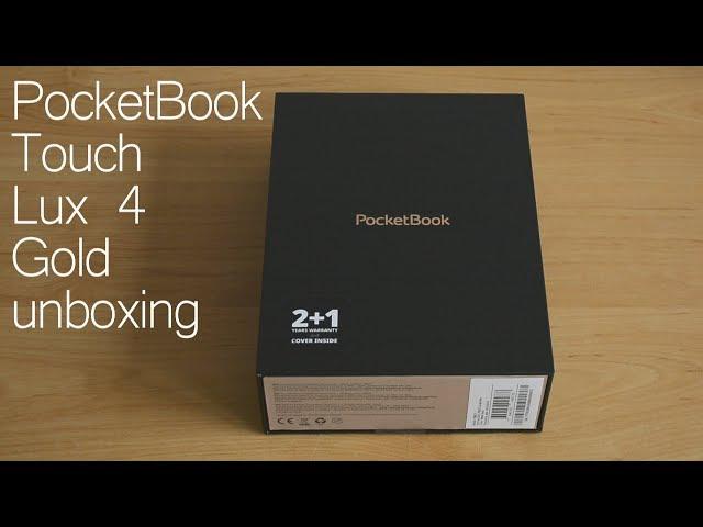 Idealny czytnik na prezent - unboxing PocketBook Touch Lux 4 Gold