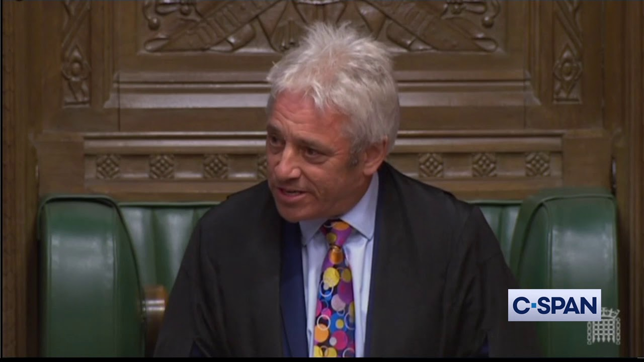 CSPAN British House of Commons Speaker John Bercow announces resignation