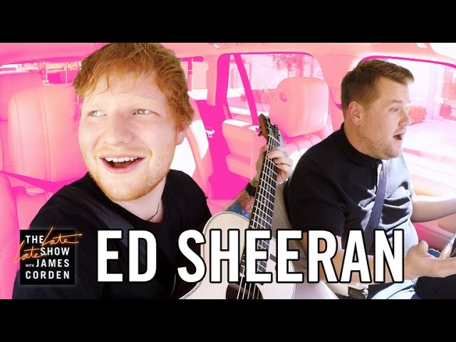 Ed Sheeran acompañó a James Corden en su Karaoke Carpool