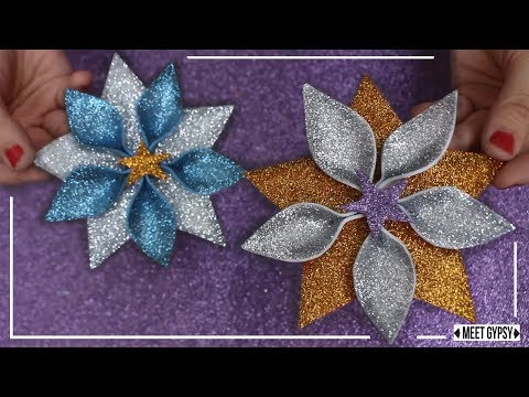 Adorno de Navidad estrella con Goma Eva y Foami / Adorno Navideño fácil Goma Eva