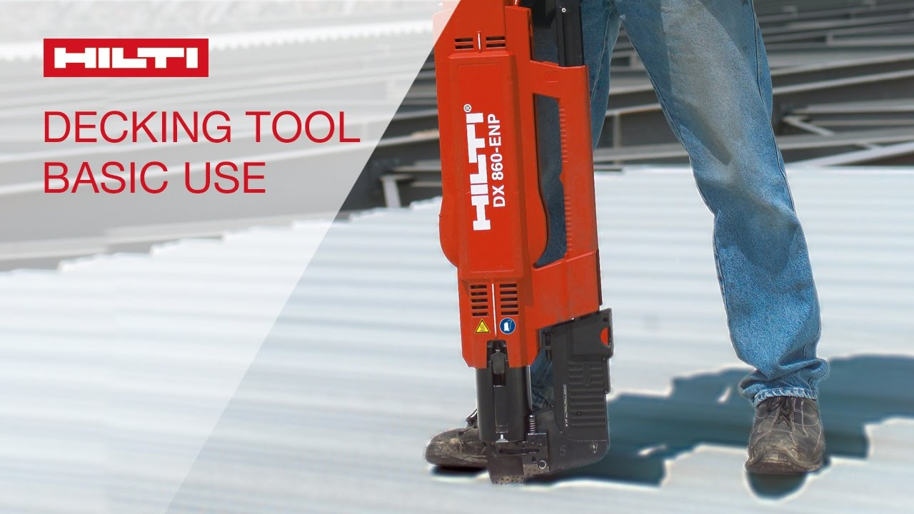 Demonstration Of Basic Use Of The Hilti Powder Actuated