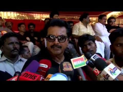 Tamil Cinema Stars Wants Jayalalithaa to be Released -  Sarathkumar ,Bhuvaneswari, R. K. Selvamani   Tamil Nadu continues to be on edge after the arrest of former Chief minister J Jayalalithaa in 18-year-old disproportionate assets case on September 27. The Tamil Nadu film industry will not showcase any movie on Tuesday across theatres in the state to protest Jayalalithaa's sentencing. In order to show their support for Jayalalithaa, members of Tamil Film Exhibitors Association will go on fast on Tuesday. Members of Tamil Film Producers Council (TPFC) and South Indian Artists Association (SIAA) have also backed the hunger strike. In the meantime, Jayalalithaa's bail plea will come up for hearing in Karnataka High Court. She had moved the high court seeking bail and challenging her conviction. Jayalalithaa, her aide Sasikala and two others were found guilty in the 66.65 crore case and fined by the court. While the AIADMK chief was asked to pay Rs 100 crore, the three others were fined Rs 10 crore each. The state witnessed numerous suicide attempts and deaths soon after the judgment. Some reports said that a total of 16 persons had committed suicide or died of cardiac arrest across the state. The AIADMK elected Jayalalithaa's right-hand man O Panneerselvam to take over the reins of the government in her absence. Panneerselvam, who broke down as he took the oath on Monday, made no changes in the portfolios, keeping home, finance and public affairs with himself. This is Panneerselvam's second stint as the CM. In 2001, Jayalalithaa handpicked him to fill her shoes when she was convicted in the TANSI land scam. The trusted Jayalalithaa loyalist refused to sit in her chair saying it belonged to his 'revered' leader.  www.bbc.co.uk/tamil indiaglitz. tamil.oneindia.in  behindwoods.com puthiyathalaimurai.tv VIJAY TV STARVIJAY Vijay Tv  -~-~~-~~~-~~-~- Please watch: