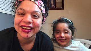 Pintando a Jodelia con Los Ojos Tapados !