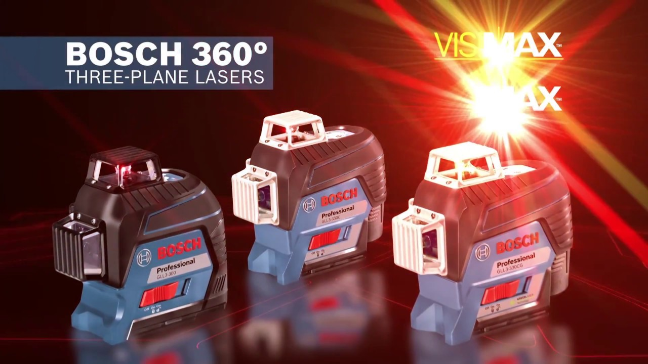 Bosch Gll3 330cg Green Line Laser Level And Gll3 300c Red