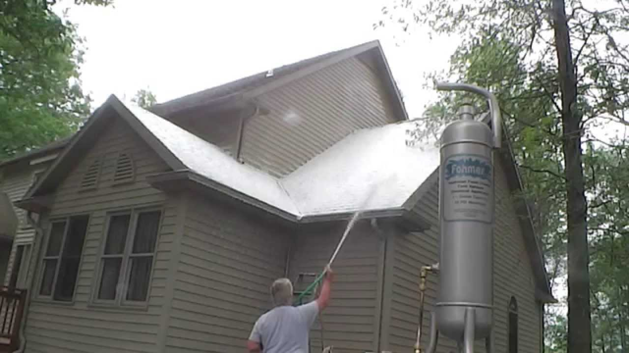 Fohmertoo Spraying 4 Copper Sulfate Roof Cleaner Youtube
