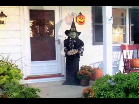 Life Size Animated Witch Halloween Decoration Youtube