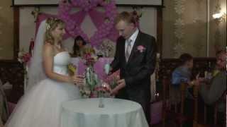 Песочная церемония на свадьбе.