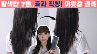 탈색,염색으로 손상된 머릿결 케어하는 꿀팁(ft.어노브…