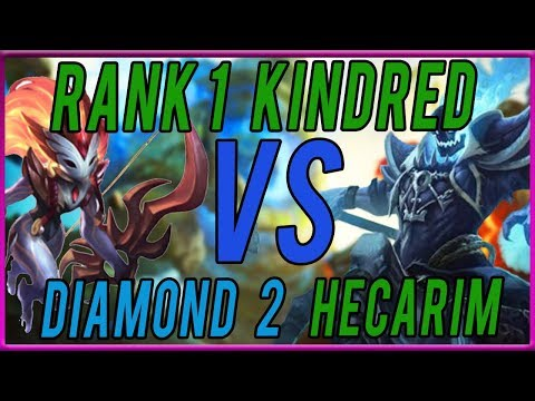 RANK 1 KINDRED WORLD SMASHES HECARIM JUNGLE WITH EASE - League of Legends thumbnail