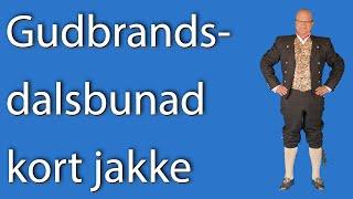 Presentasjon av Gudbrandsdalsbunad med kort jakke fra Bunad For Menn
