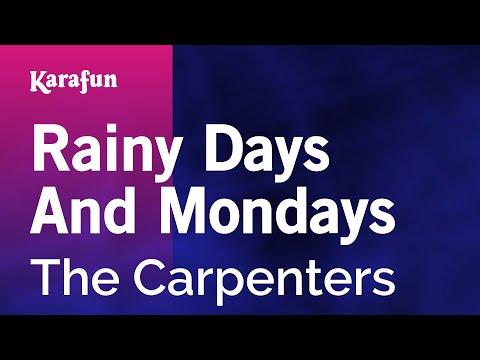 Karaoke Rainy Days And Mondays - The Carpenters *