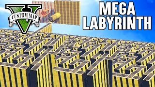 MEGA LABYRINTH (+DOWNLOAD) | GTA 5 - CUSTOM MAP RENNEN