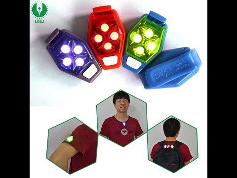 Factory Wholesale Cheap LED Clip Light, Fashion Color Safety Light