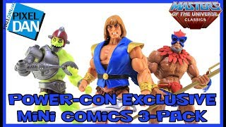 Masters of the Universe Classics Power-Con 2017 Exclusive Mini Comics Figures 3-Pack Video Review