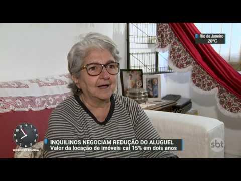 Preço de imóveis alugados caiu quase 15% em dois anos - SBT Brasil (08/07/17)