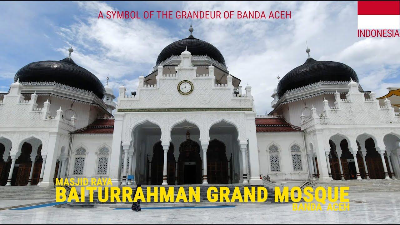 The Veranda Of Mecca Baiturrahman Grand Mosque Banda Aceh Indonesia Youtube