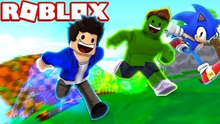 JEAN AND HULK HAVE THE POWERS OF SONIC IN THE ROBLOX!!!