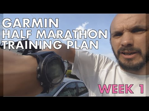 GARMIN HALF MARATHON TRAINING PLAN WEEK 1