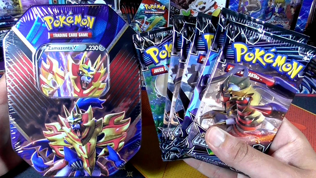 UNBOXING CARTAS POKEMON LATA LEGENDS OF GALAR ZAMAZENTA V