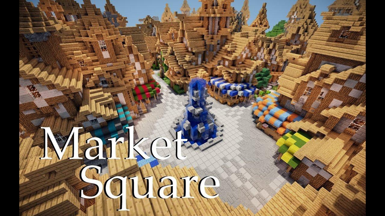 House Tv Series Minecraft Medieval Market Square Tutorial 1 4 Htsymc