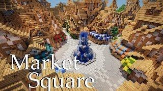 minecraft medieval market square tutorial