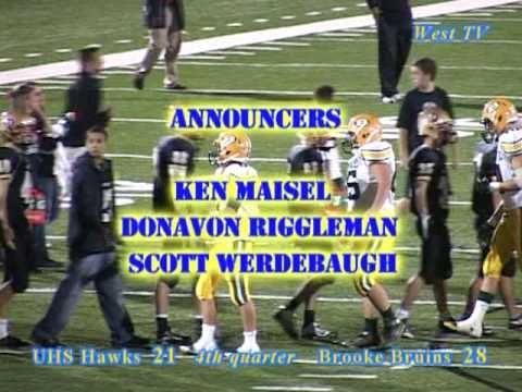 University High School (Morgantown, WV) vs Brooke Bruins, varsity football