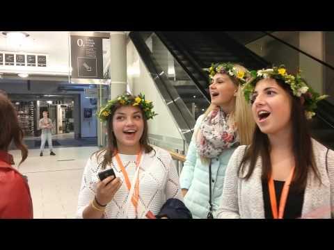 Beautiful Latvian Young Ladies Sing, Latvia Childrens Festival, Riga 2015