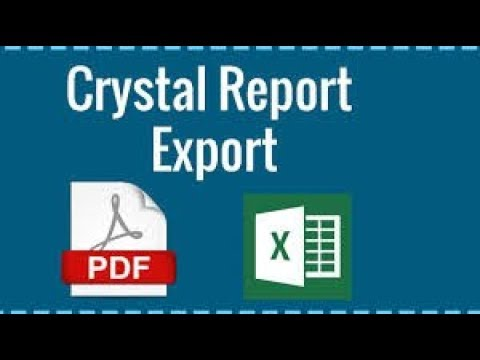 How To Export Crystal Report Into Pdf And Excel Using C#