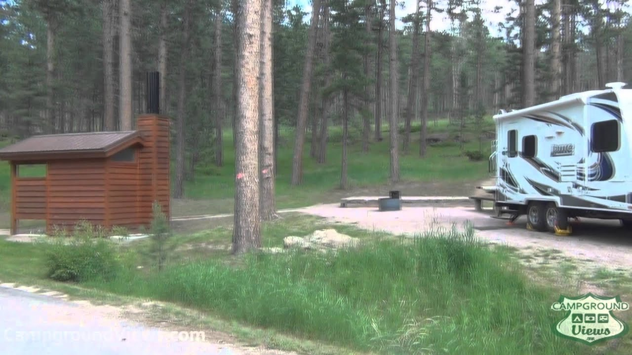 Bismarck lake campground custer for Cabins near custer sd
