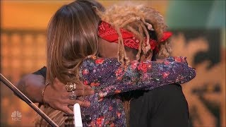 Amazing Electric Violinist Gets Hug From Heidi Klum America's Got Talent 2018