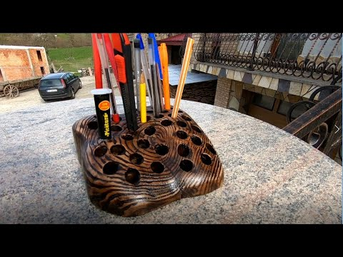 Make IT: DIY Handmade  Wooden Pen Holder