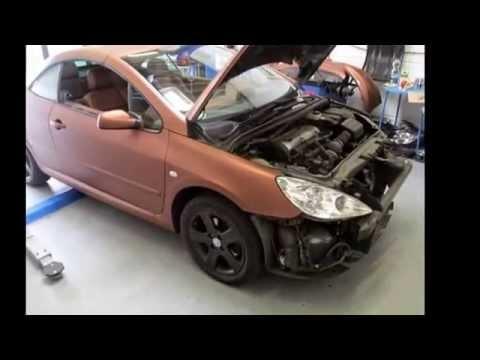 Peugeot 307cc Folierung Matt Braun Metallic