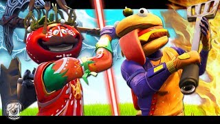 IF TOMATOHEAD AND DURRR BURGER BATTLE! - A Fortnite Film