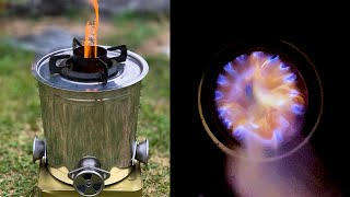 Homemade Wood Gas Burning Stove for Camping with Less Soot  TLUD Gasifier Stove for Noodles
