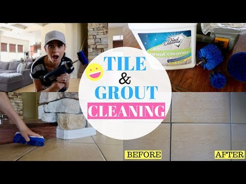 DEEP CLEAN YOUR TILE AND GROUT 2018 || CLEAN WITH ME || TESTING OUT NEW CLEANING ITEMS