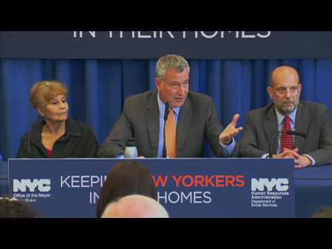 Mayor de Blasio Hosts Press Conference