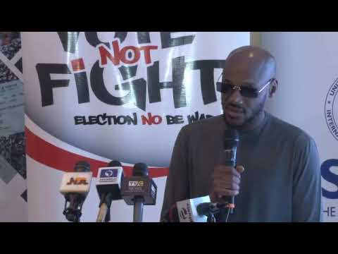 Download Just In: 2FACE, Nigeria Youth VOTE Not FIGHT In 2019 Election
