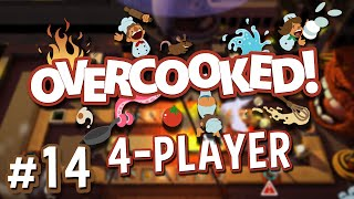 Overcooked - #14 - FINAL BOSS (4 Player Overcooked Co-op Gameplay)